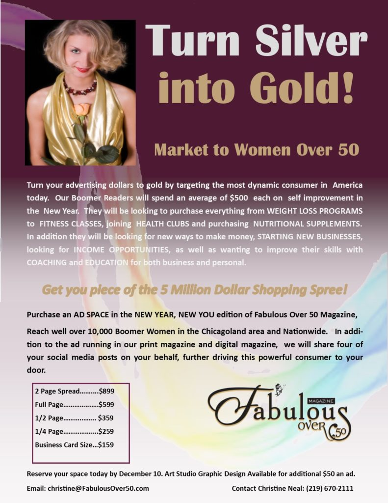 Advertising for Fabulous Over 50 2018