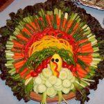 Turkey shaped vegetable tray image