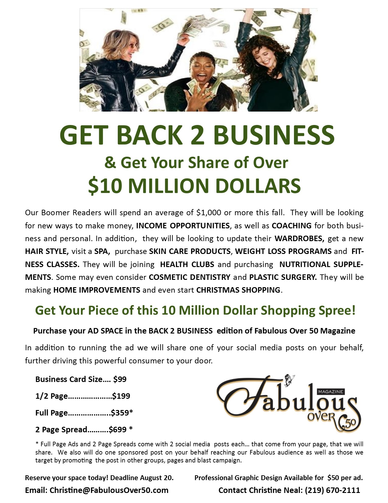 Fabulous Over 50 Advertising Information Flyer Fall 2017 image