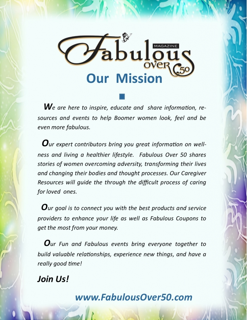 Fabulous Over 50 Mission Statement image