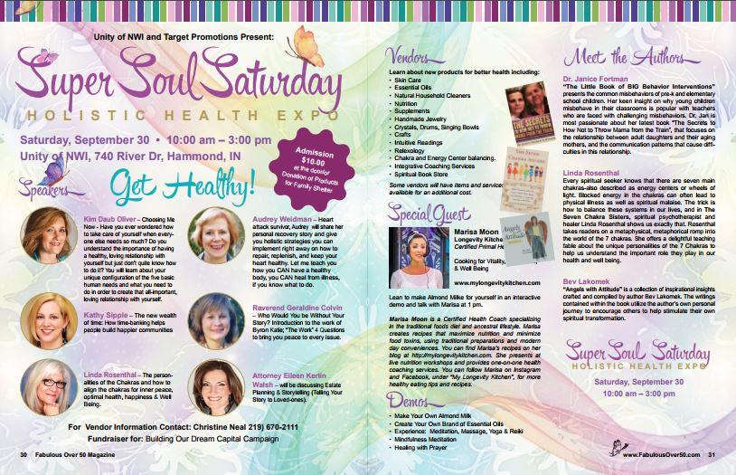 Super Soul Saturday sept 2017 Flyer